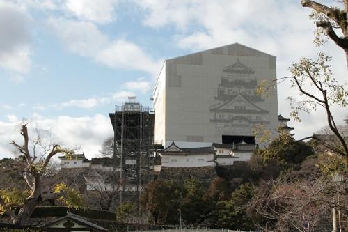 改修中の姫路城